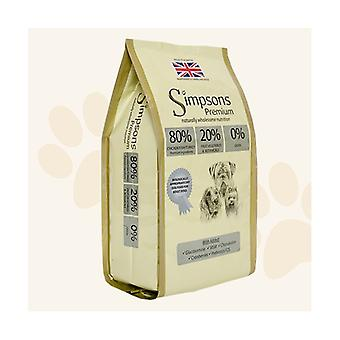 Simpsons Premium Adult 80/20 Mixed Meat & Fish Dry Dog Food - 2kg