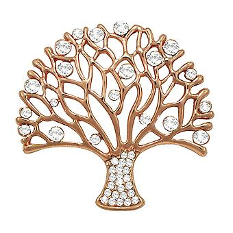 Eternal Collection Essence Clear Crystal Rose Gold Tone Brooch