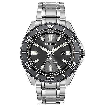 Ciudadano Eco-Drive Promaster acero inoxidable reloj BN0198 - 56H