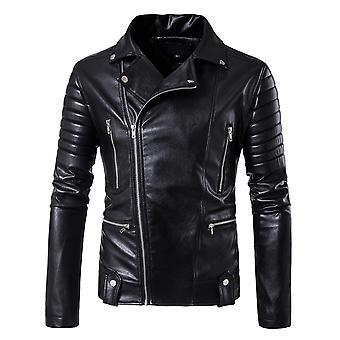 Veste en cuir Allthemen Pour Homme Zipper Automne Fashion Manteau