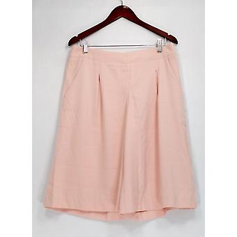 G.I.L.I. got it love it Petite Pants Side Zip Culottes Pockets Pink A277134