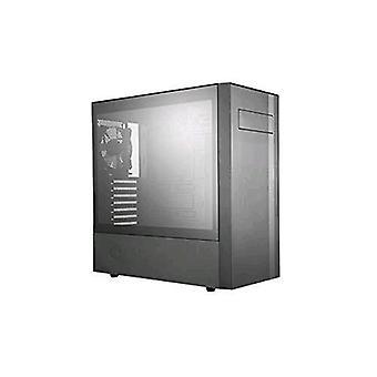 Cooler master masterbox nr600 case middle tower tempered glass side window black color