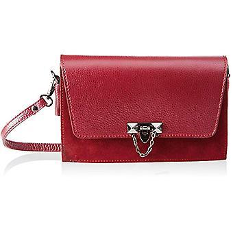 Chicca Bags 1638 Women's shoulder bag Red 25x16x7 cm (W x H x L)