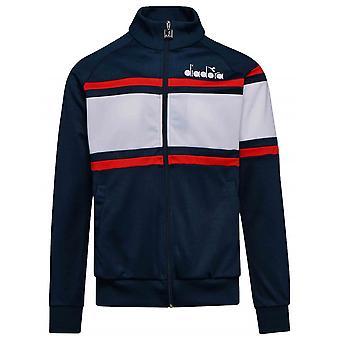 Diadora Diadora Navy & White Polyester Jacket