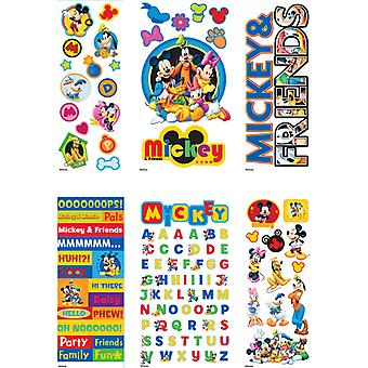 Disney Value Sticker Set  4 Dimensional & 2 Flat Sheets Mickey & Friends E5380042