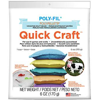 Quick Craft Weighted Poly Pellets 6Oz White Pp1qc