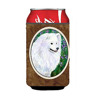 American Eskimo Can or Bottle Beverage Insulator Hugger