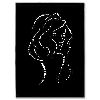 Cuadro de arte de cristal mujer MBP-10