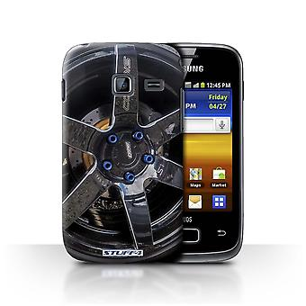 STUFF4 Case/Cover for Samsung Galaxy Y Duos/S6102/Black/Blue/Alloy Wheels