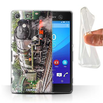 STUFF4 Gel/TPU Case/Cover for Sony Xperia M5/Bodmin/Steam Locomotive