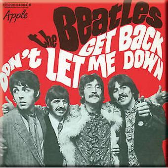 Beatles Get Back / Don't Let Me Down (red) fridge magnet     (ro)