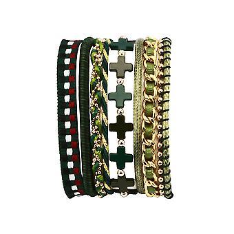 Goddess of earth layered bracelet