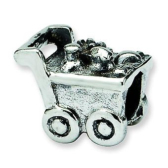 Sterling Silver Reflections Kids Shopping Cart Bead Charm
