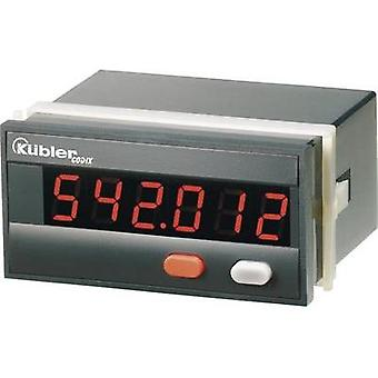 Kübler CODIX 543 10-30 V/DC Time counter Codix 543 Assembly dimensions 92 x 45 mm