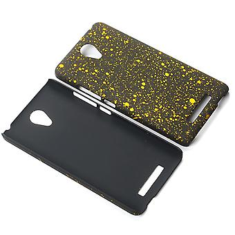 Cell phone cover case bumper shell for Xiaomi Redmi note 2 3D star yellow