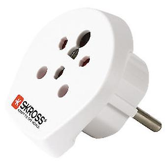 Skross Travel Adapter India / Israel / Denmark To Europe Blisters
