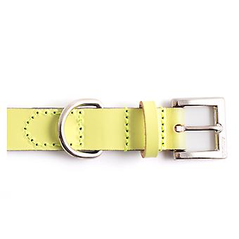 Indulgence Leather Lead Lime Green Sz 2-7 1m X19mm