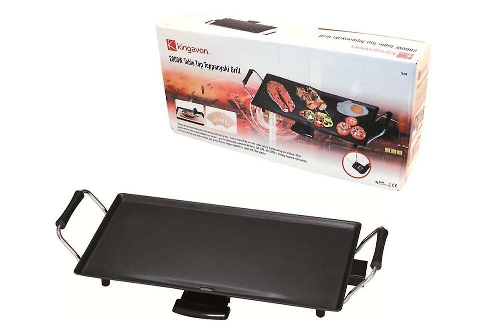 Electric Table Top Non Stick Teppanyaki Grill 2000W For Camping Caravan Outdoor
