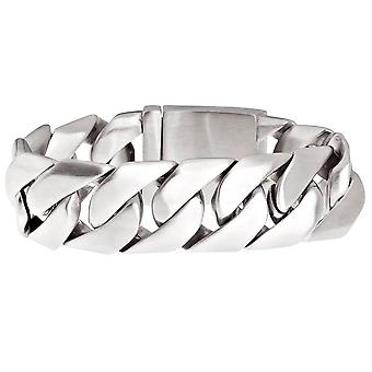 Iced out bling roestvrij stalen armband - MIAMI CUBAANSE 27mm mat