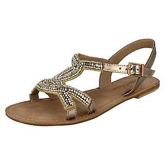 Дамы пятно на гламурный плоские сандалии кожаные коллекции