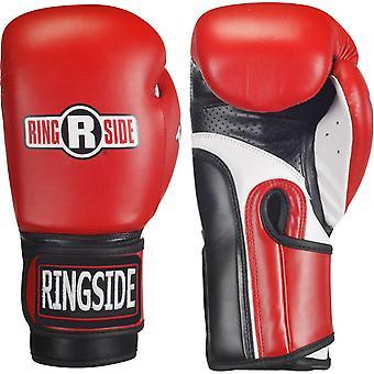 Ringside boksning IMF Tech krog & Loop Super taske uddannelse handsker - rød/sort/hvid