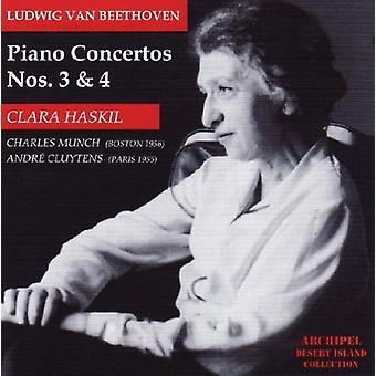 Beethoven / Haskill / Bso / Munch - Piano Concertos 3 & 4 [CD] USA import