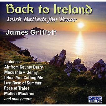 Griffett/Lindley/Benson - Back to Ireland: Irish Songs & Ballads for Tenor [CD] USA import