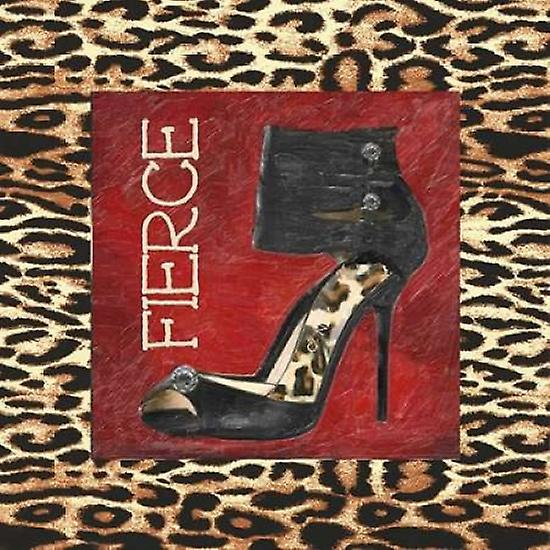 FIERCE SHOE Poster by Print by Poster Taylor Greene 57d086