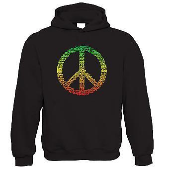 Rasta Peace Symbol Hoodie - Jamaica Reggae Bob Marley Gift for Him Dad