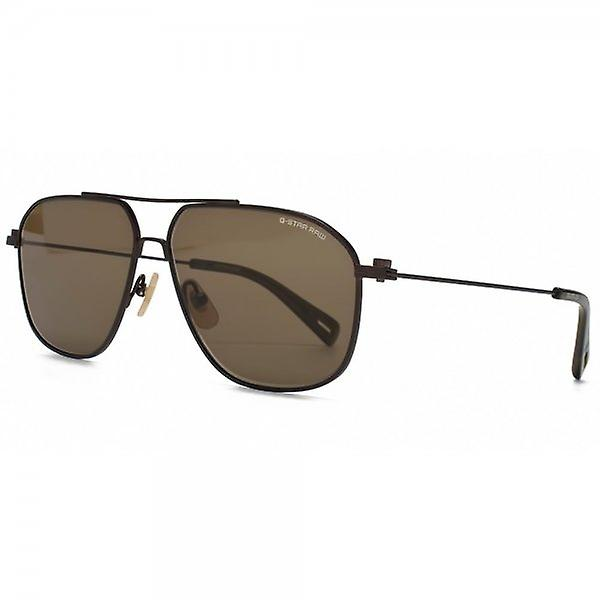 G-Star Raw Metal Erving Sonnenbrille im Semi-Matte Brown