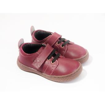 Livie & Luca Boys Barefoot Shoes - Livie And Luca Vintage Dark Red Leather Shoes