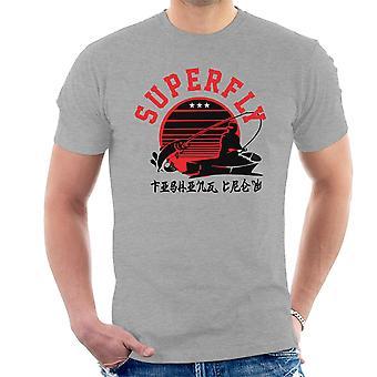 Superfly fiske mannskapet menn t-skjorte