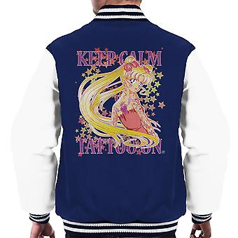 Sailor Moon Keep Calm Usagi Tattoo On Men's Varsity Jacket
