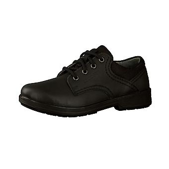 Ricosta Boys Harry School Shoes Black Wide or Middle Fitting