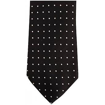 Bassin and Brown Medium Spot Silk Tie - Black/Grey