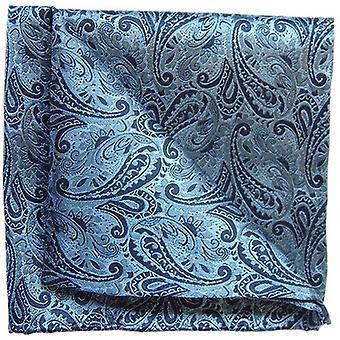 Tyler and Tyler Paisley Pocket Square - Navy