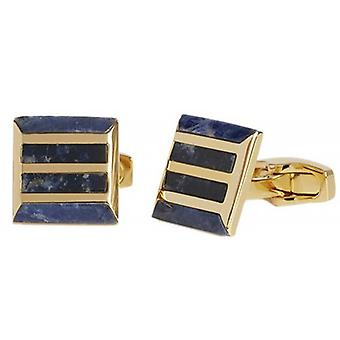 Simon Carter calandre Pierre Sodalite Cufflinks - bleu/or
