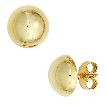 Earrings semicircular 333 gold yellow gold earring gold Bouton