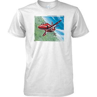 Red Arrows Flying In Formation - Mens T Shirt
