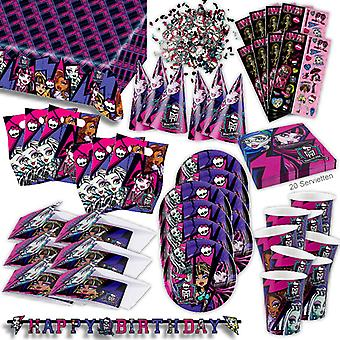 Monster high 2 party set XL 71-teilig for 6 guests Monster party decorations party package