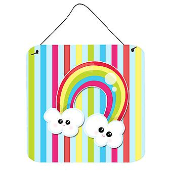 Carolines Treasures  BB7151DS66 Weather Rainbow Face Wall or Door Hanging Prints