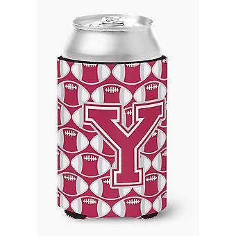 Bokstaven Y fotball Crimson, grå og hvit kan eller flaske Hugger