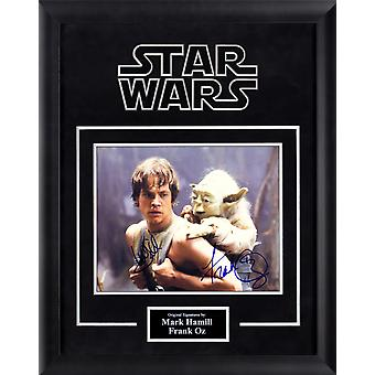 Star Wars - Mark Hamill and Frank Oz Signed Movie Photo - Framed Artist Series