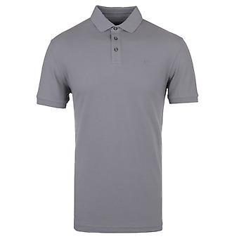 Hackett GMD stalen grijs Stretch Pique Slim Fit poloshirt