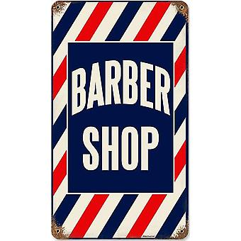 Barber Shop rusted steel sign 360mm x 200mm (pst 148)