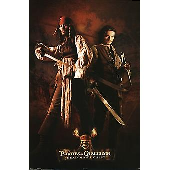 Pirates of the Caribbean - Jack and Will Poster Poster Print