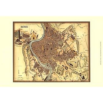 Map of Rome Poster Print by Vision studio (19 x 13)