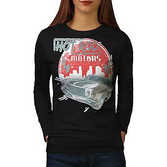 Hot T-shirt van de koker van de BlackLong van de Vintage vrouwen van auto | Wellcoda