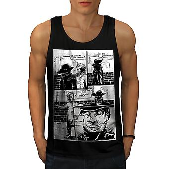 Gángster Cool broma hombres BlackTank Top | Wellcoda