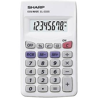 Calculadoras EL 233 S Sharp EL233S blanco